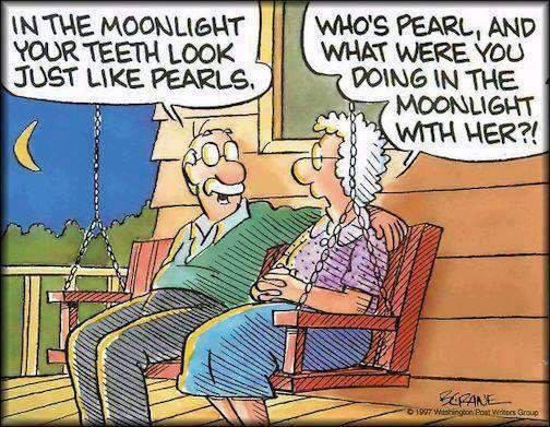 Funny old couple cartoon
