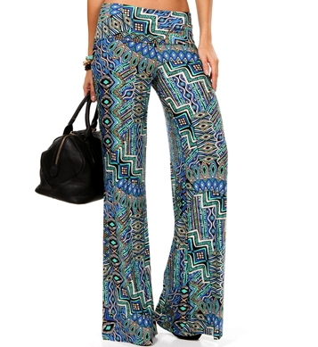 Aztec print palazzo.Best paired with a loose white shirt or a tank top source : www.windstore.com