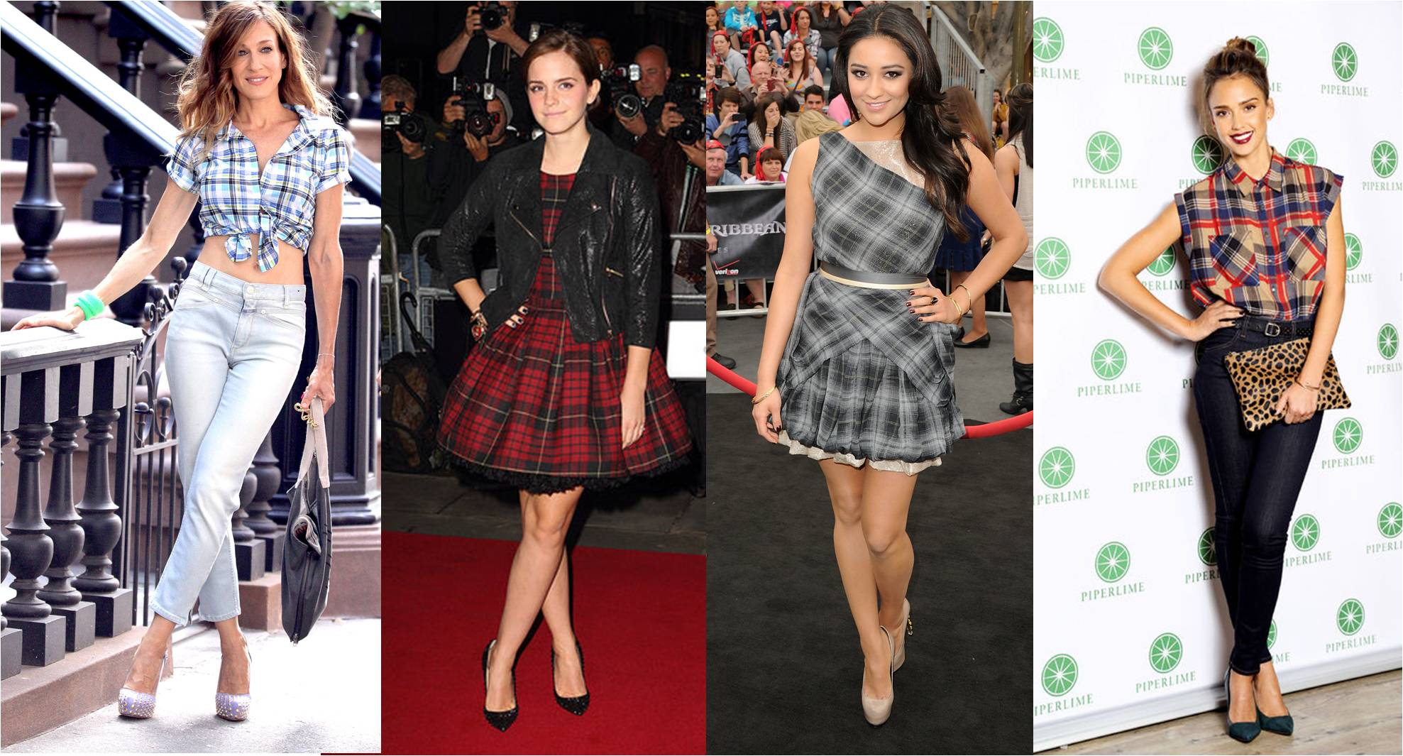 Celebrities in Plaid (Courtesy : inonit.com)