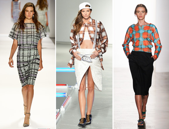 Flannel plaid shirt at Spring 2014 New York Fashion Week. (picture courtesy Getty images on style.mtv.com)