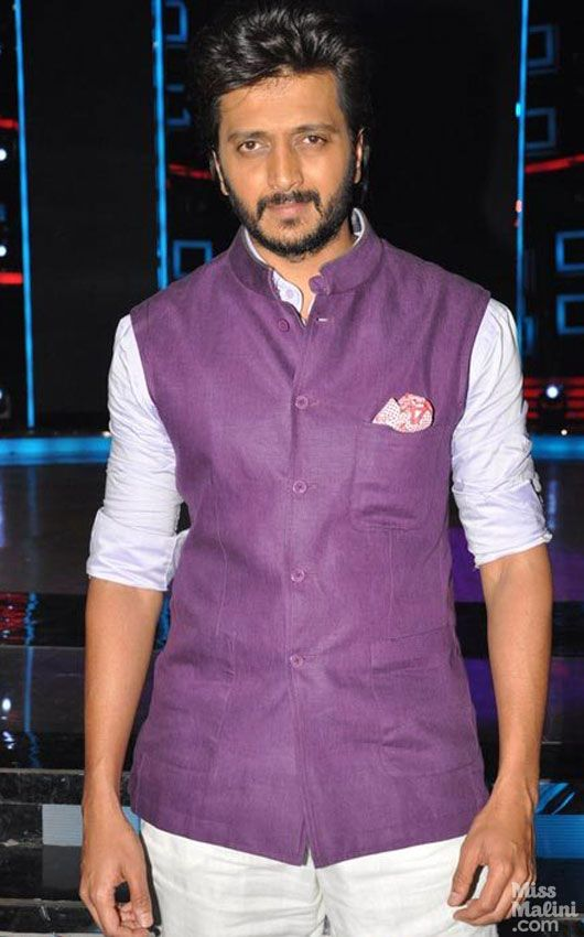 Indian Actor Ritesh Deshmukh in a Purple Bandi