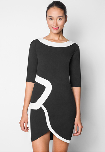 ezra by zalora graphic shift dress