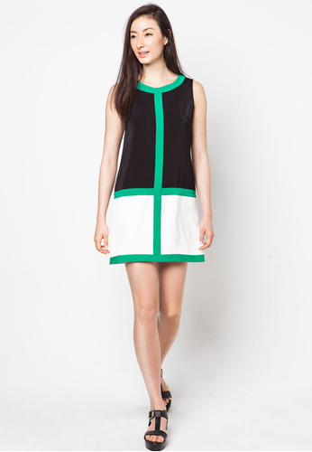 Colour Block Shift dress (Ezra, By Zalora)