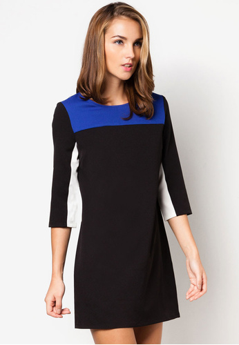 Colour block Shift Dress  (By Zalora SG)