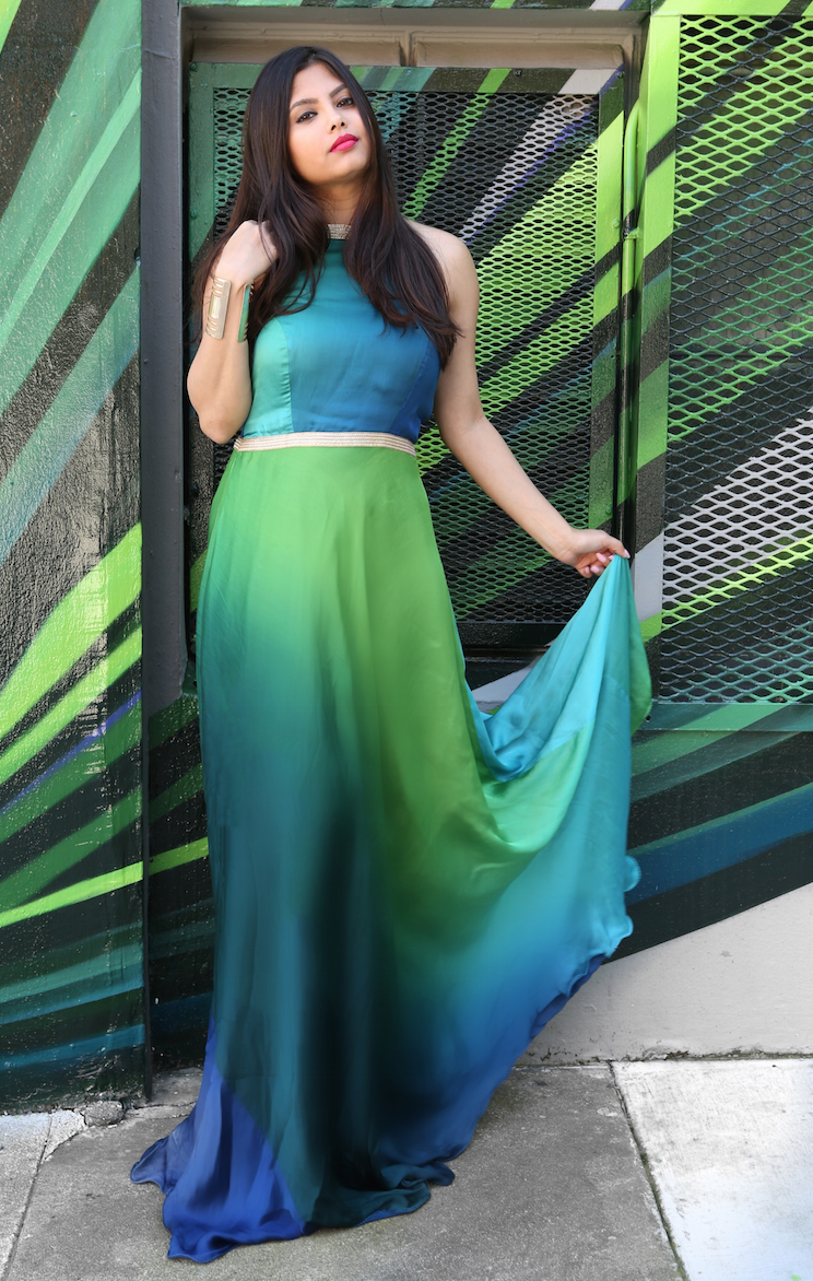 The Green Ombre Maxi Dress | Ft. Wardrobe Unlimited