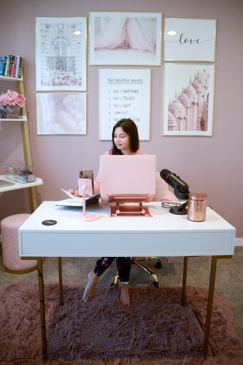 How I Created My Beautiful Pink Home Office